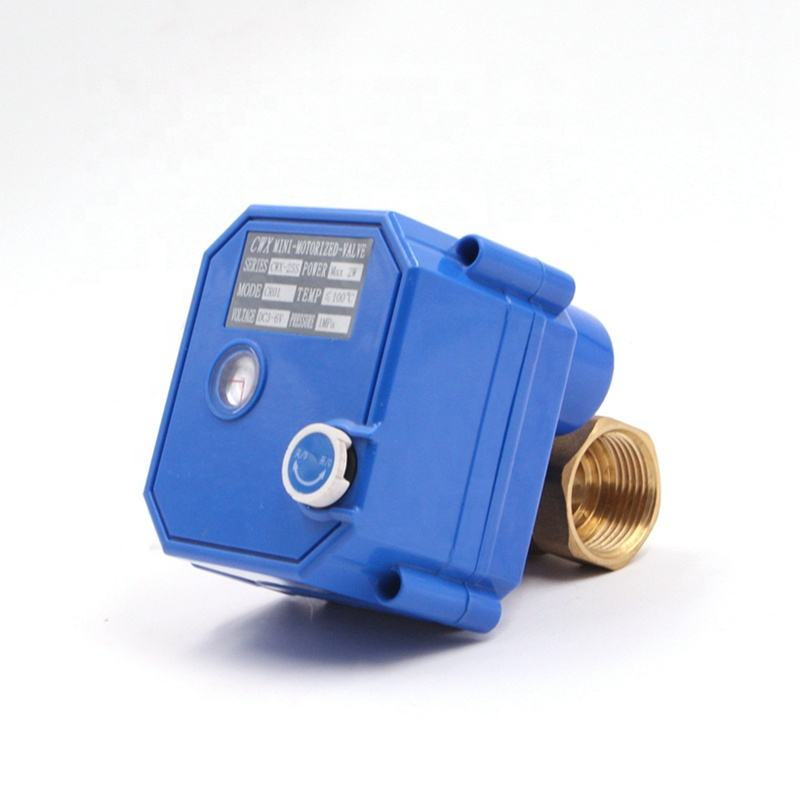 CWX-25S 2 way motorized valve brass ss304 mini electric actuator water control valve 3v 5v 6v 12v 24v 110v 220v DN15 DN20 DN25