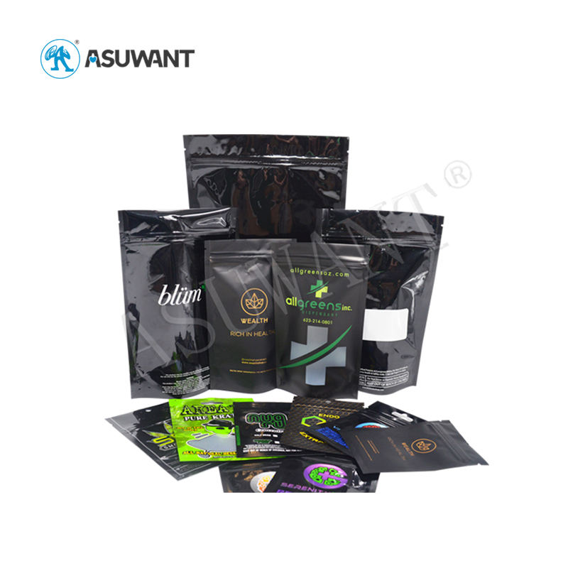 Custom design printing packaging pouches medical plastic zip lock bags for medical weeds