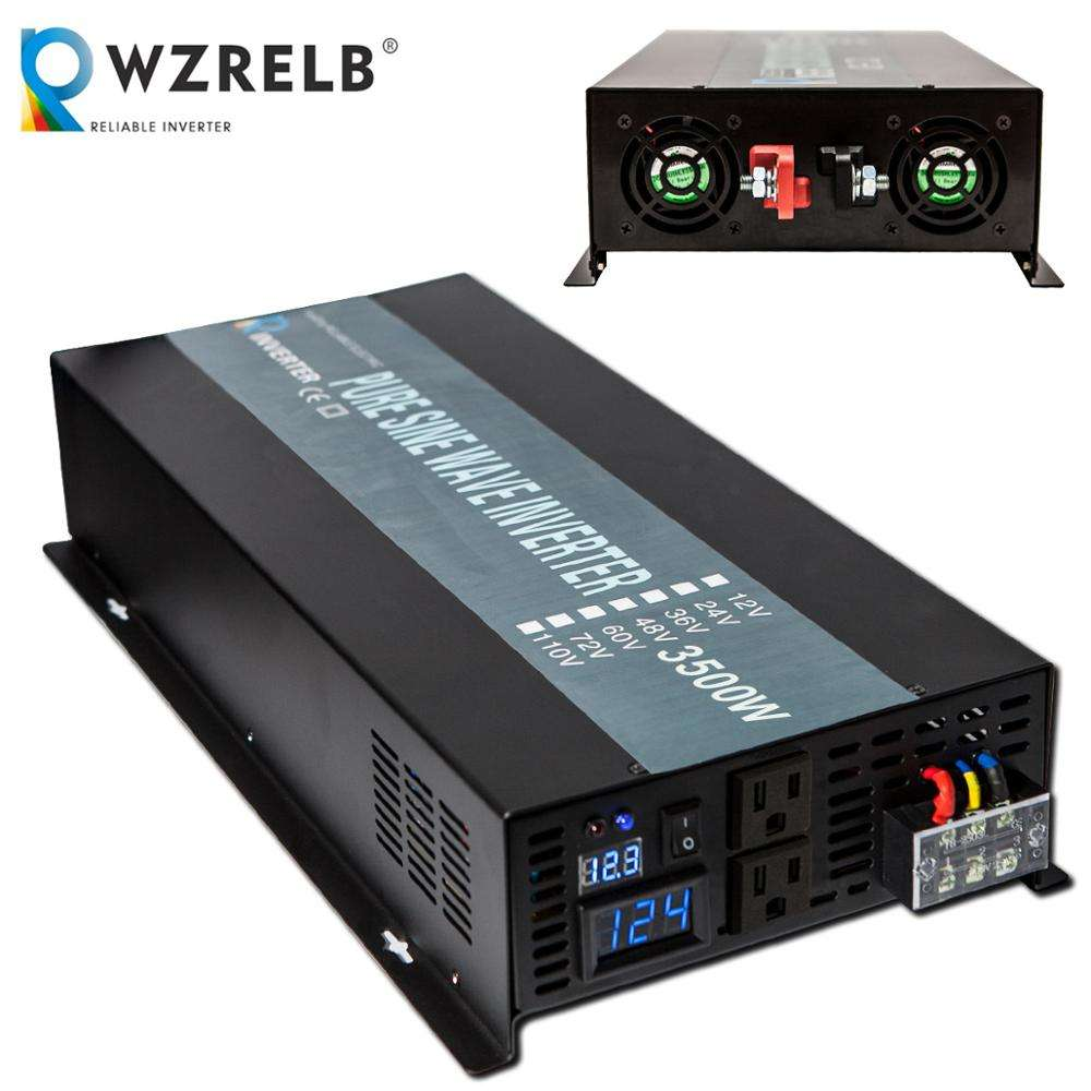 3500w 3.5kw 24v dc to 220v ac Off Grid Power Single Phase Pure Sine Wave Inverter with LED Display