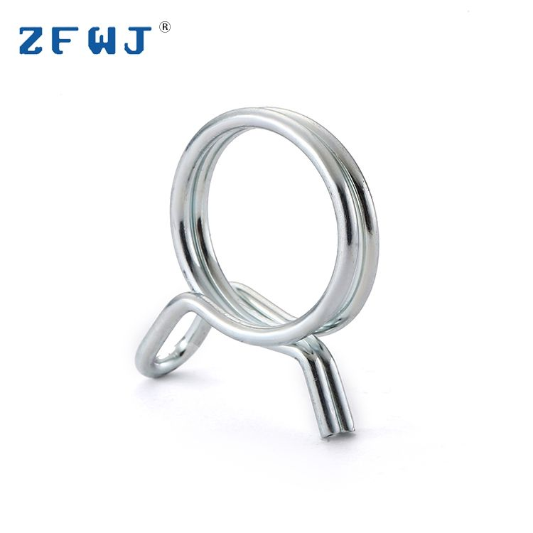 Stainless steel zinc plated spring type double wire hose pipe clamp
