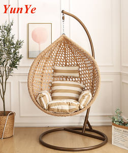 Outdoor indoor Swing chair hanging Rattan egg chair hanging with stand