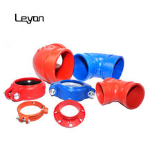 mechanical joint ductile iron pipe fittings top quality grooved reducer grade 65-45-12 90 elbow threaded flexible coupling