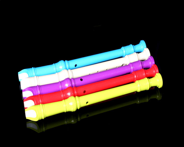 8 hole colorful toy plastic flute for kid