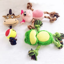 yangzhou manufacturer wholesale customized cute chew squeak frog dog pet toy plush