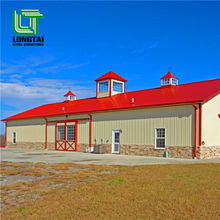 Steel structural prefabricated barn