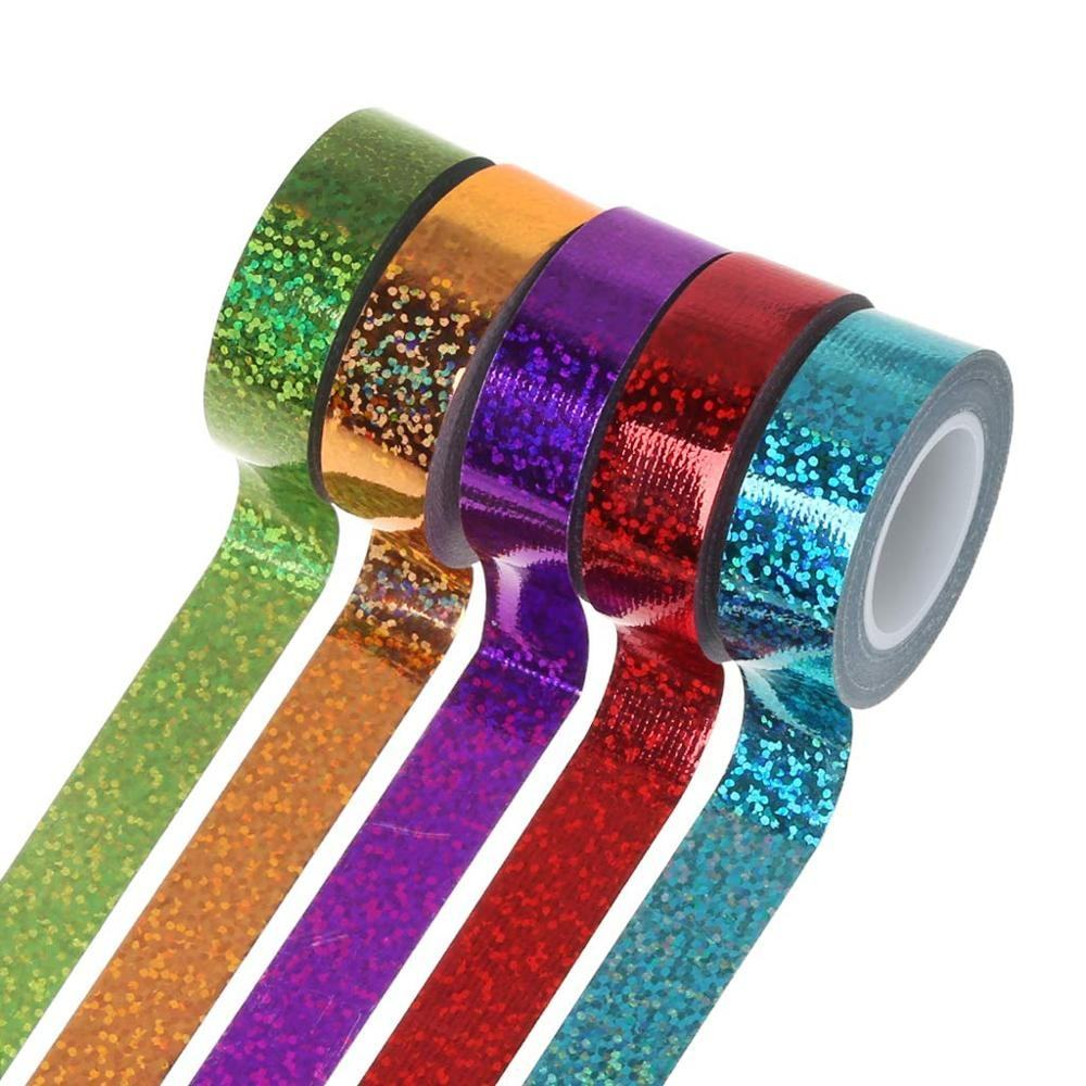 Custom Holografische Laser Ritmische Gymnastiek Decor Tape Holografische Glitter Duct Tape Plakband Diy Sticker Ring Stok