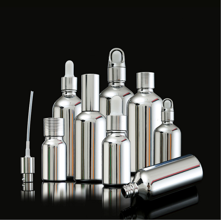 Spot 5ml to 100ml Silver plate color glass 50ml perfume bottle