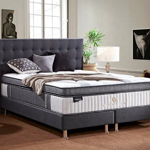 Euro bedroom compress packing foam single dual king size coil pocket spring mattress