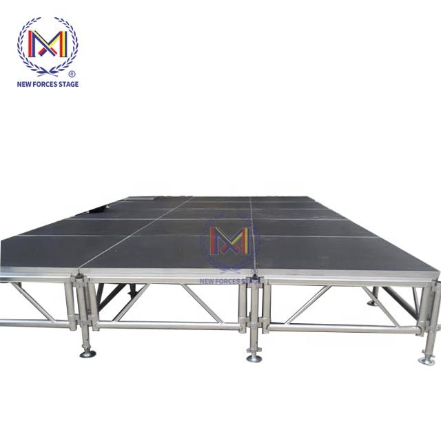 Hot Products for Concert Stage Platform Removable Plate-forme de scene Aluminum lighting truss Stage