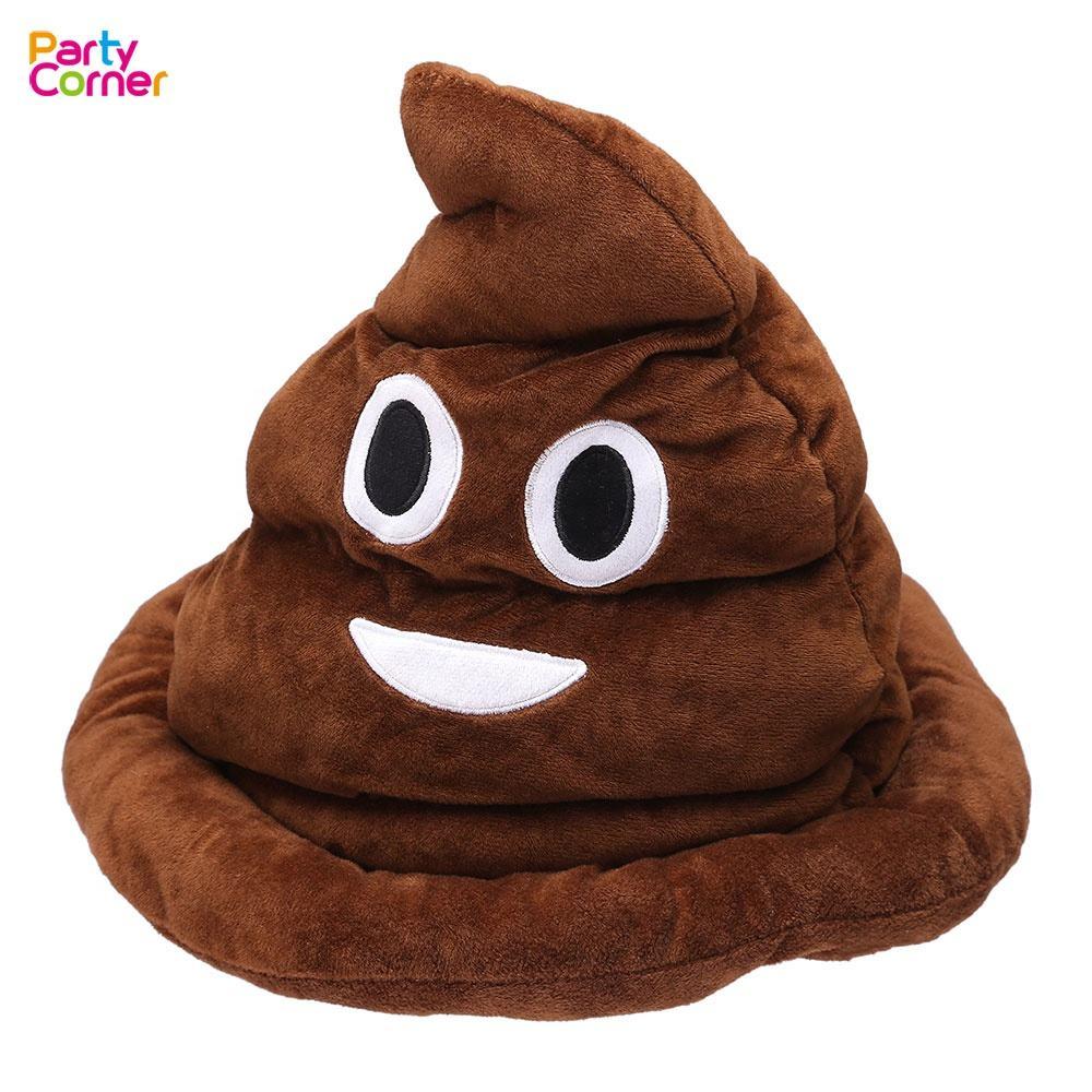 Costume Party Gag Gift SOFT Fabric Rainbow Emoji Poop Hat