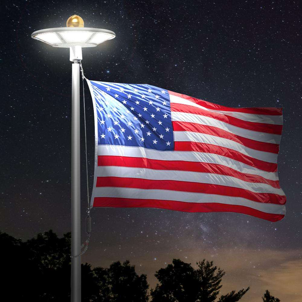 120 LED Flag Pole Light IP65 Waterproof Outdoor Solar Lamp Solar Flagpole Top Light