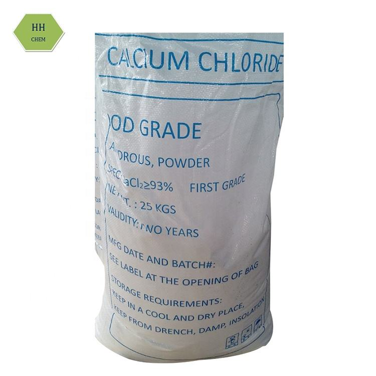 Pure white flake granular powder calcium chloride food grade