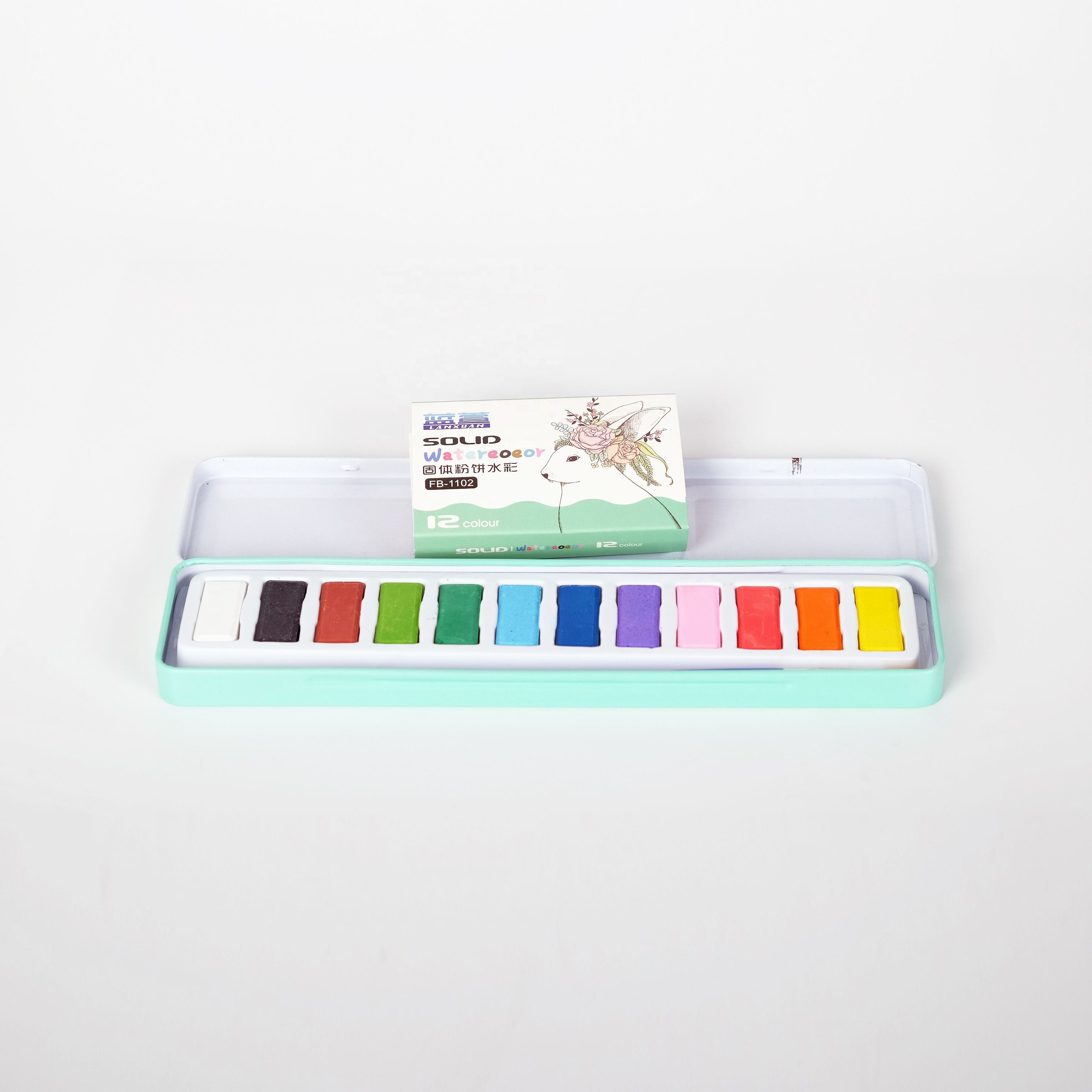 water color paint for Kids School DIY watercolors paint set with brush 12 colors