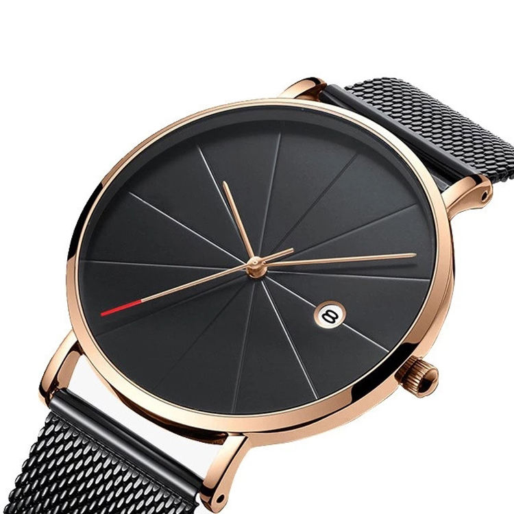 Latest Gold Watches Design Men Watches Stainless Steel Band Man Wrist Watch