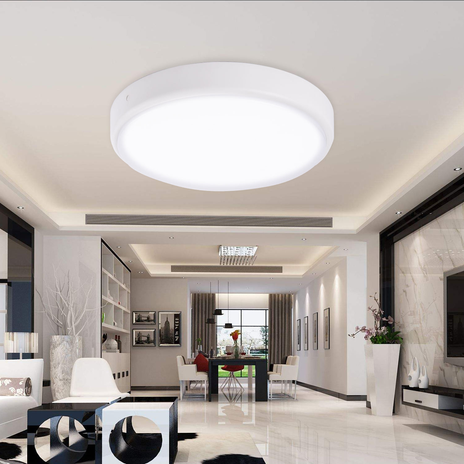 Work With ALEXA Wifi Control 100LM/W bathroom decorative oyster IP54 LED Ceiling Lamp