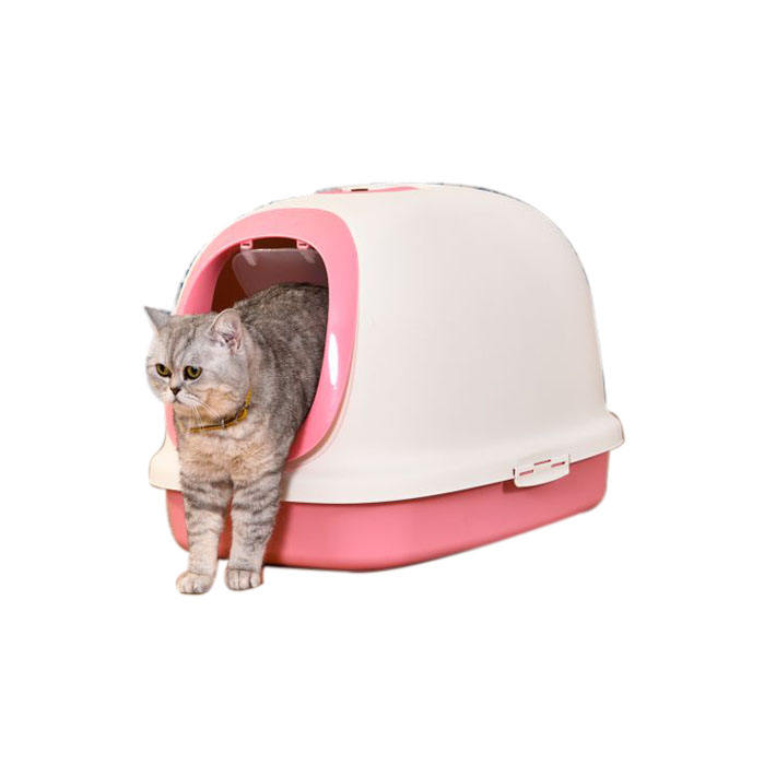 Pet Clean Up Products Plastic Large Space Training Self Cleaning Cat Litter Box Cat Toilet