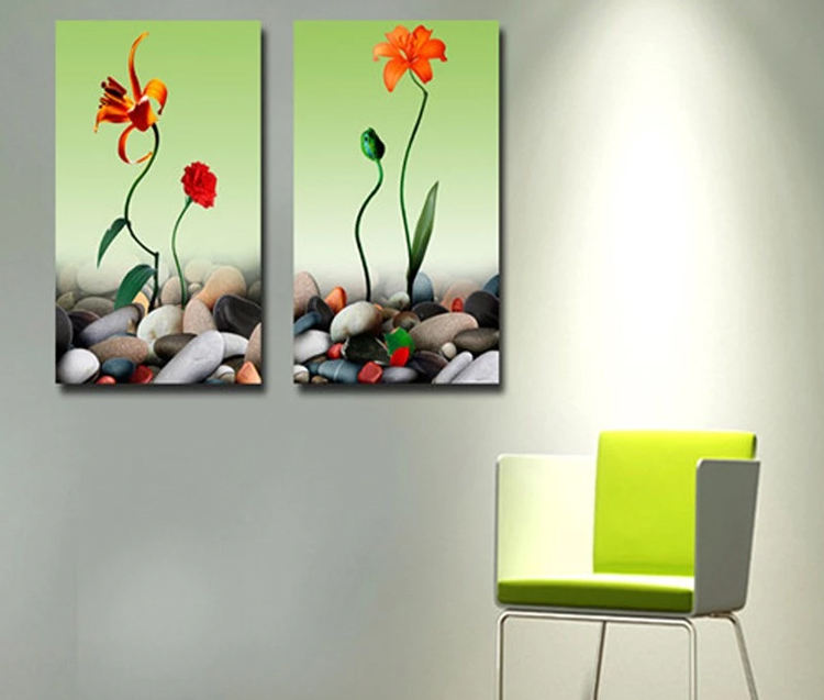 flower design photo wall picture frameless painting canvas wall art