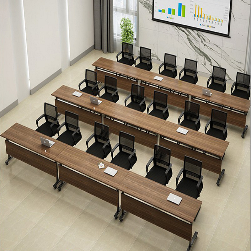 Adjustable Lightweight Meeting Training Room Table Tops Desks Stackable Conference Tables and Chairs Price