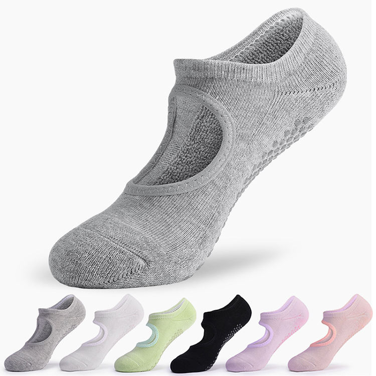 LRTOU Fashion High Quality Custom Cotton Towel Yoga Socks Thermal Terry Non-Slip Women Yoga Socks Anti Slip