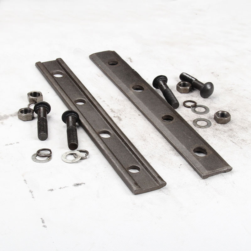 Railway track fasteners fish plate and fish bolt used for rails fastening