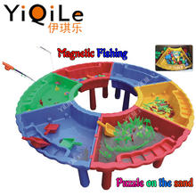 Outdoor Summer Fishing Game Toy Kids Beach Toys Sand and Water Table for Kids