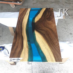 Wood slab table top