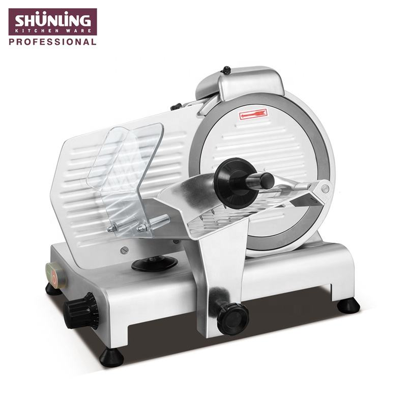 250mm blade commercial meat slicer / cheese slicer / bread slicer 250ES-10 in aluminium alloy body and stainless steel blade.