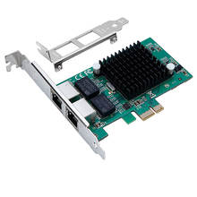 Dual port Network Card Adapter 10/100/1000Mbps PCI Express PCIe Server lan card NIC with Intel 82575 Chip RJ45