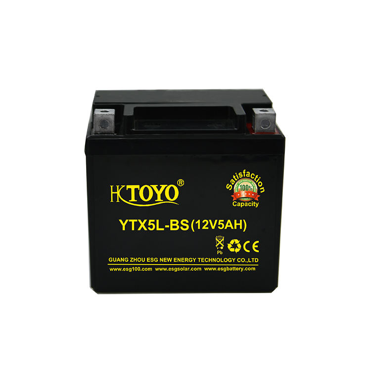 High power YTX5L-BS 12v5ah MFrechargeable motorcycle start car battery