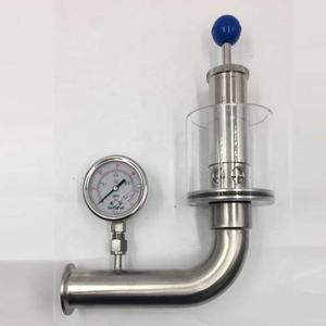 Sanitary Stainless Steel SS304 Air Pressure Relief Valve with manometer for fermentation tank