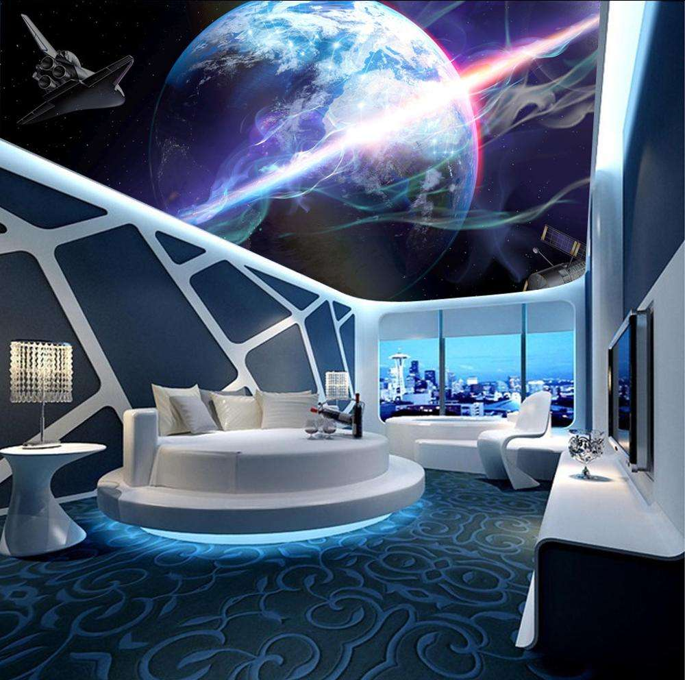 3.2mWx2.2mH per piece Ceiling Design New Fashion Pop Ceiling Fabric Abstract Shinny Lights Print PVC Stretch Ceiling 3D