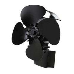 4 Blades high airflow chimney flue pipe mounted patent Heat Powered stove fan, solution for low temperature soapstone stovetove