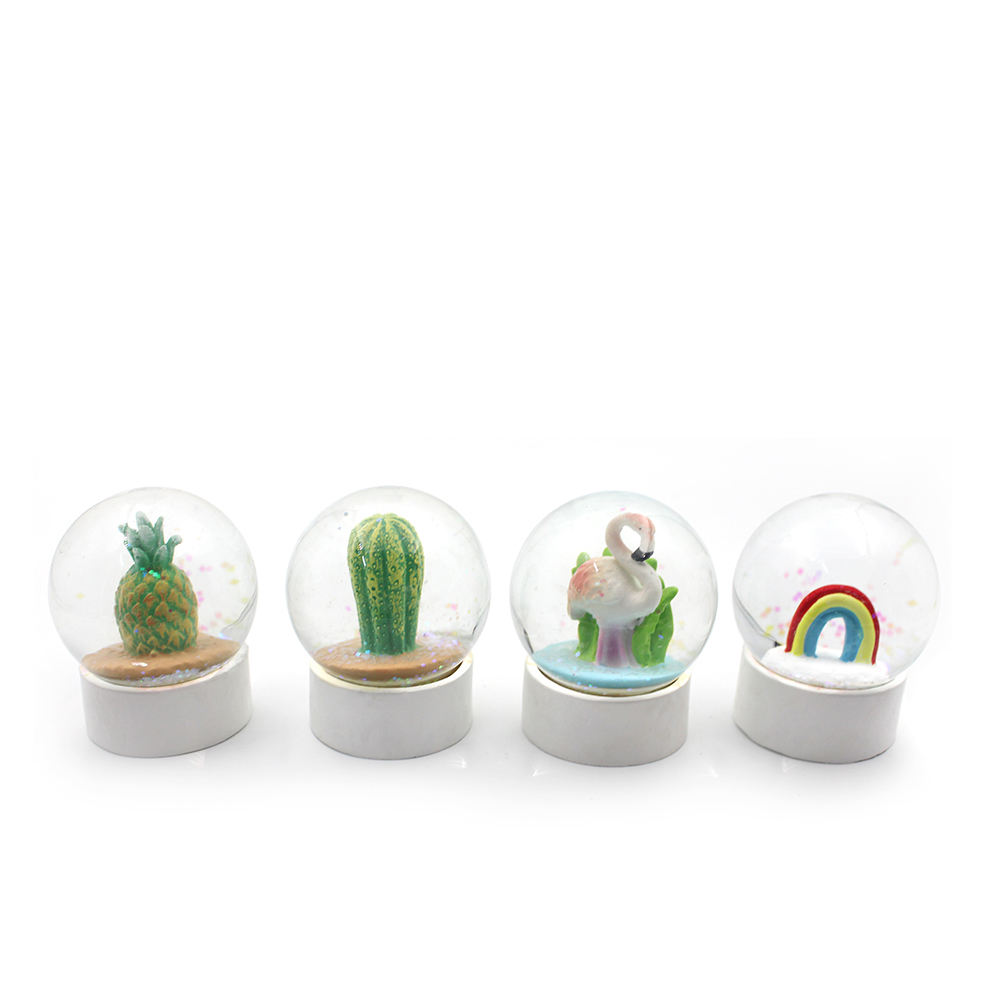 Simple home office design desk decoration 65mm resin glass snow globe