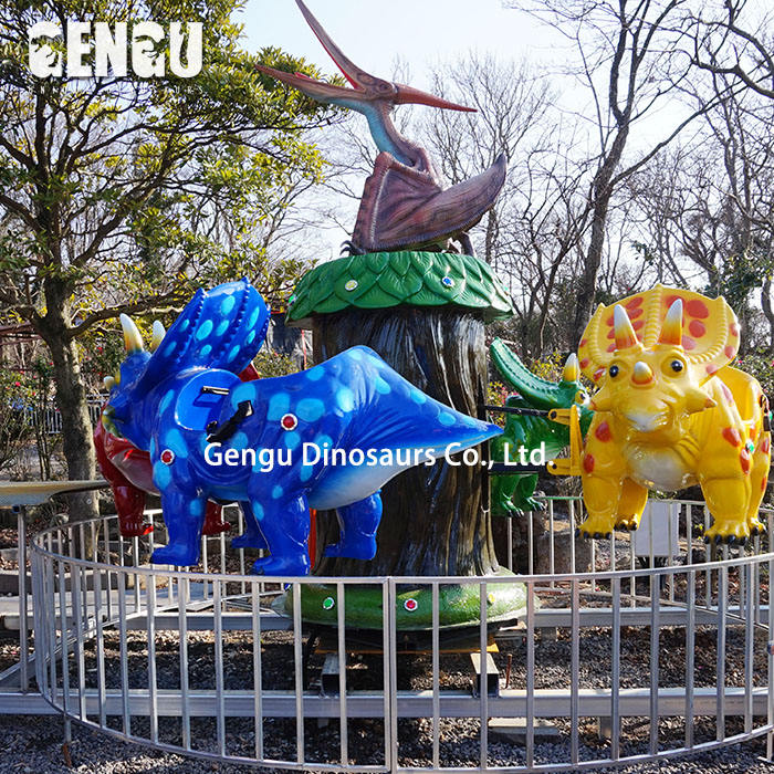 Dinosaur Carousel Ride Outdoor Amusement Park Equipment