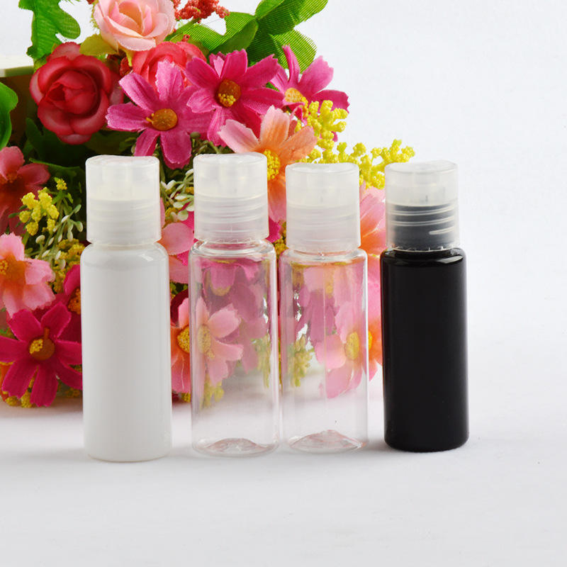 High function 20ml OEM clear cosmetics packaging oil PET plastic sample packaging toner bottle in China