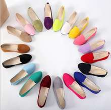 UP-0180J Wholesale ladies large size simple low top casual flat shoes women