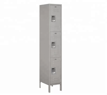 3 door Changing Room steel clothing staff metal wardrobe closets locker