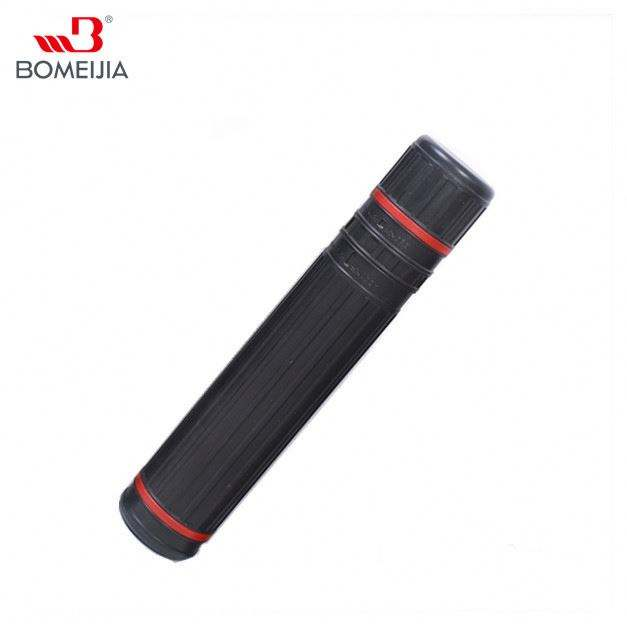 BMG-HT603 diameter 10cm black PE Telescope drawing storage plastic tube scroll holder easy to carry