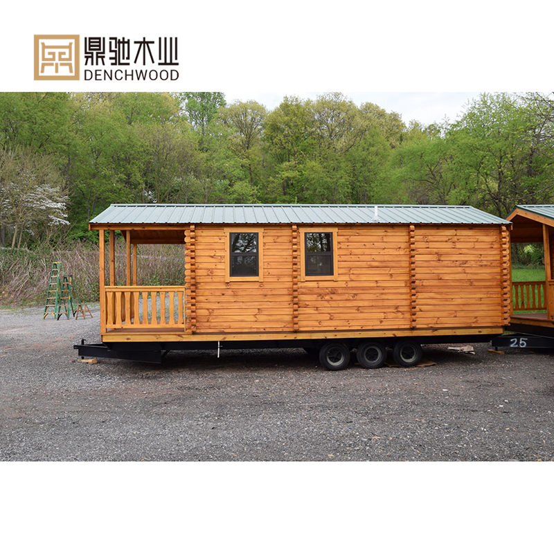 Luxury Prefab house mobile tiny house on wheels park home lodge cabin Modular for sale