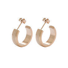 E-318 Xuping fashion 18k gold plated stainless steel  stud earrings