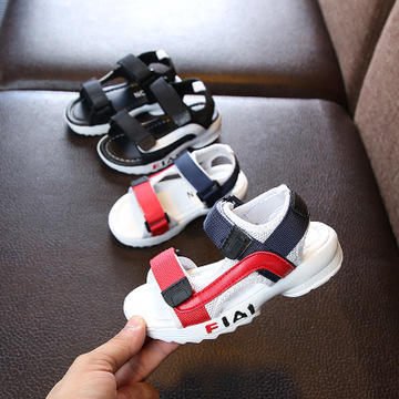 Beach Children Kids Boys Baby Shoes And Girls Summer Rubber Soft Sole Sandals Leather Kids Sandals