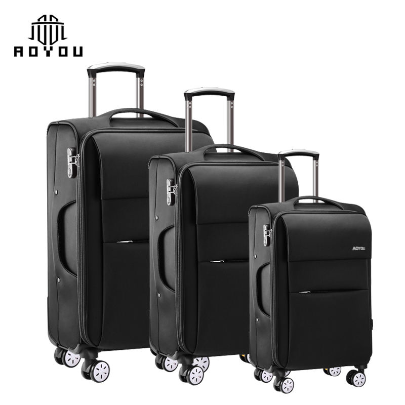 2019 hot selling 3pcs 20 24 28inch trolley nylon travel set suitcase luggage sets