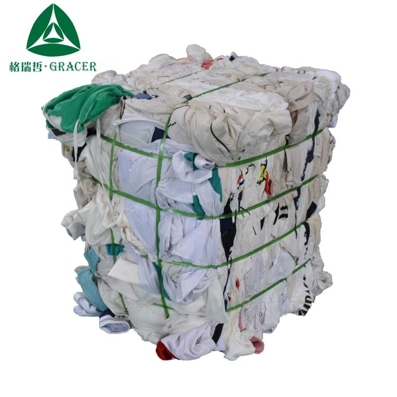 Color blanco calico pacas de ropa reciclado trapos residuos trapos