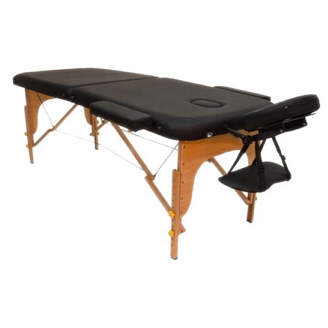 2 section portable wooden adjustable folding massage table