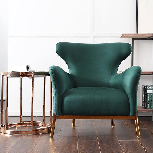 Mode De Luxe Doré Base Fauteuils Colorés Velours Accent Chaise Relax Utilisé