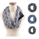 Wholesale plain travel Infinity scarf with hidden zipper pocket travel scarf