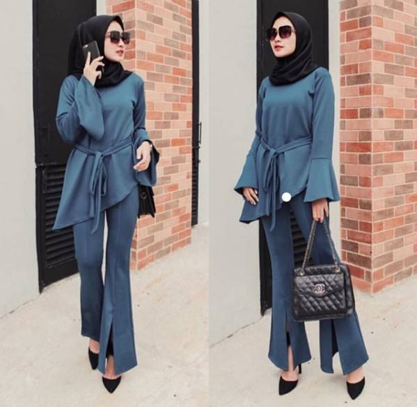 Women's new Turkish Kaftan Muslim blouse set Women Casual Dubai kaftans
