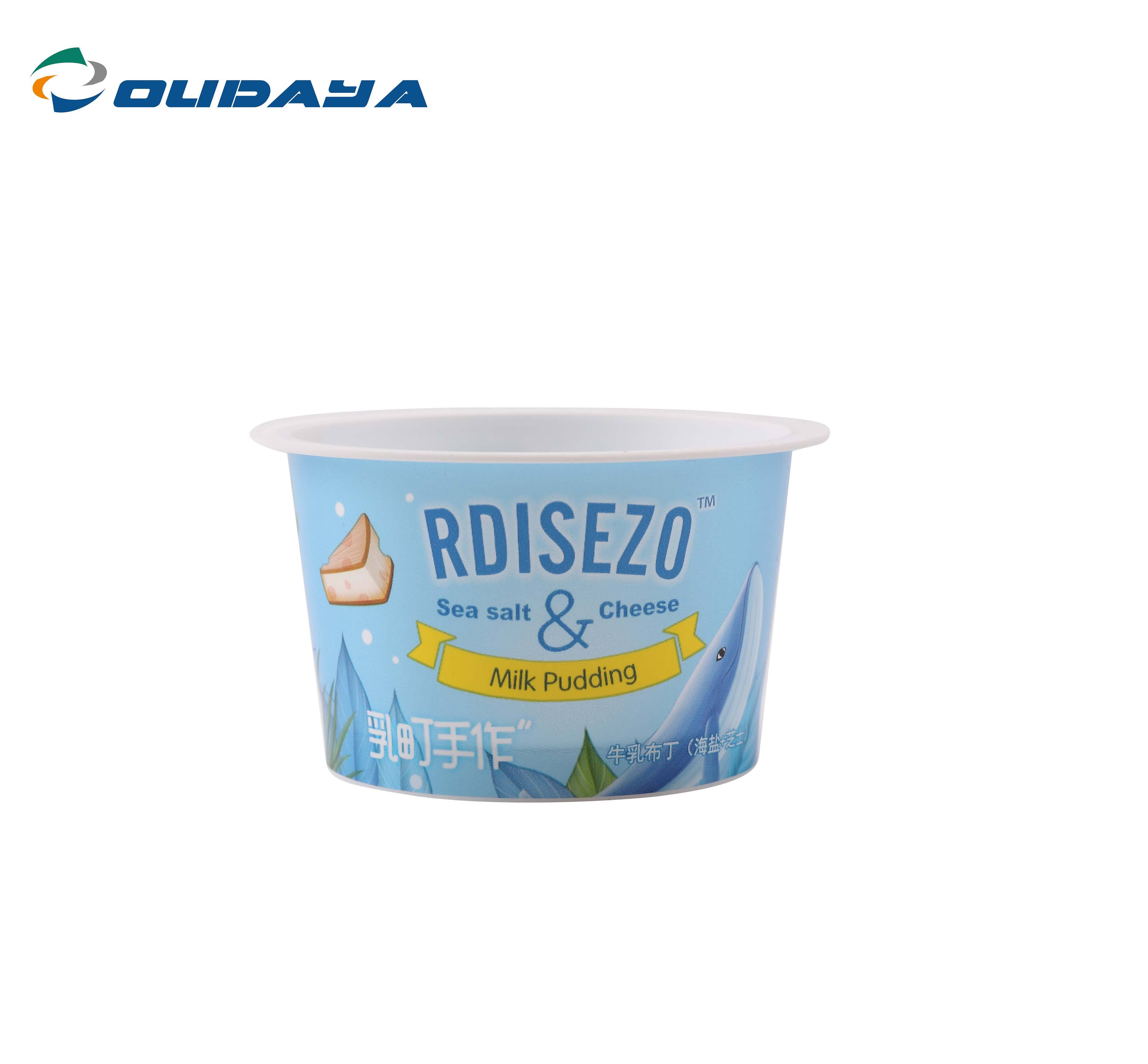 3oz 80ml PP frozen ice cream iml packaging plastic containers yogurt cup with lid aluminum film