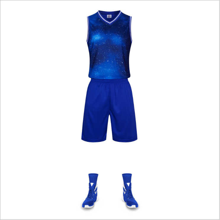 Atmungs Basketball Uniform Custom Design Basketball Jersey 100% Polyester Basketball Tragen