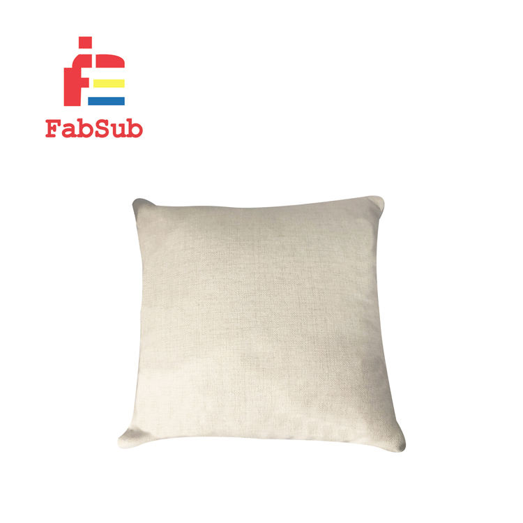 Comfortable Blank Sublimation Linen Pillow Case Custom Cushion Cover